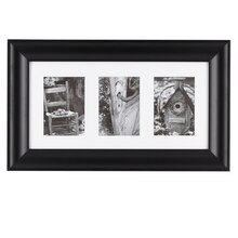 Black 3-Opening Gallery Frame by Studio Décor