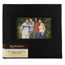 Recollections Photo Album, Black Faille, 2 Pocket