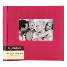 Recollections Photo Album, Pink Faille, 2 Pocket