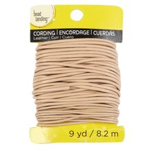 Bead Landing Leather Cord, 1mm & 2mm Natural