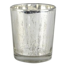 Ashland Mercury Glass Votive Holder, Silver