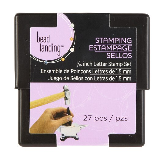 Bead Landing 1 16 Quot Letter Stamp Set