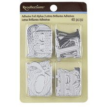 Recollections Adhesive Foil Letters, Silver