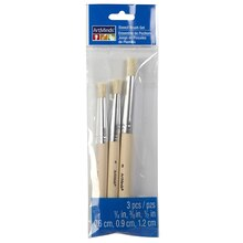 Art Minds Natural Bristle Stencil Brush Value Pack, 3 Count