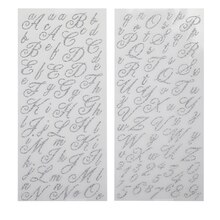 Recollections Alphabet Stickers, Flirty Silver