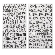 Recollections Glitter Alphabet Stickers, Script Black