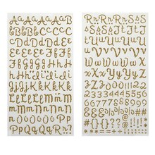 Recollections Glitter Alphabet Stickers, Script Gold