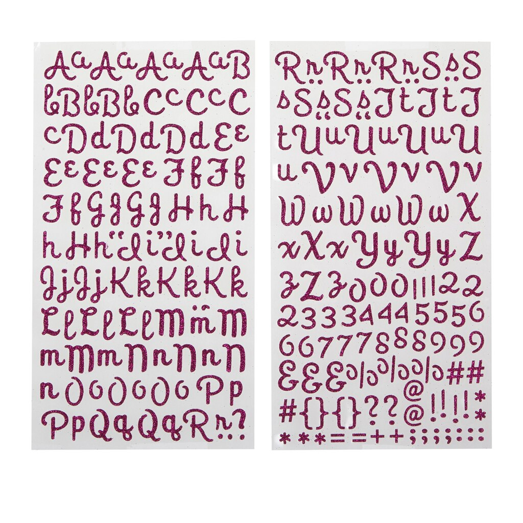 Recollectionstm glitter alphabet stickers script for Michaels stick on letters