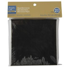 "Artist's Loft Necessities Mini Stretched Canvas, 4"" x 4"" Black"