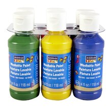 ArtMinds Washable Tempera Paint, Primary Colors 6 Pack