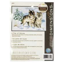 Dimensions Counted Cross Stitch Kit, A Pair of Wolves
