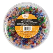 Bead Landing Bucket of Pony Beads, Translucent