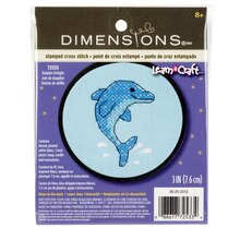 Dimensions Stamped Cross Stitch Kit, Dolphin Delight