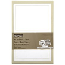 Celebrate It Occasions Pearl White Border Response Card
