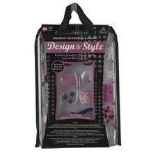 Design & Style Bead Jewelry Kit, Pink/Black/White