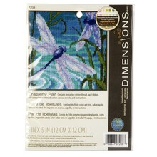 Dimensions Needlepoint Kit, Dragonfly Pair