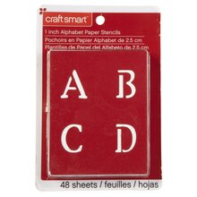 "Craft Smart Stencils, 1"" Old School Alphabet"