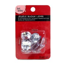 Bead Landing Clear Round Acrylic Jewels, 20 mm