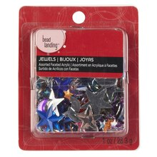 Bead Landing Assorted Faceted Acrylic Jewels, Moon & Stars