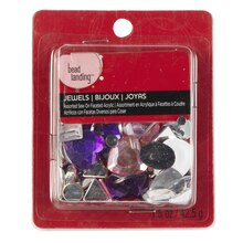 Bead Landing Assorted Sew-On Faceted Acrylic Jewels, Shapes