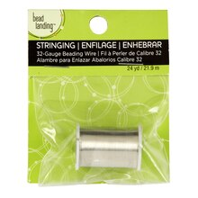Bead Landing Beading Wire, Silver, 32 Gauge