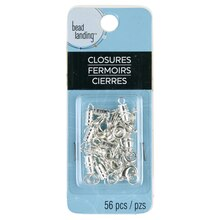 Bead Landing Closures Set, Silver