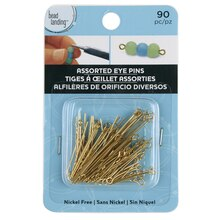 Bead Landing Eye Pins, Assorted, Gold
