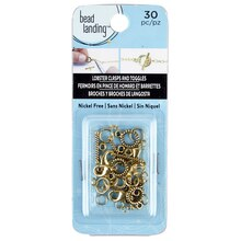 Bead Landing Closure Mix, Gold