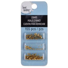 Bead Landing Starter Set Crimps, Gold