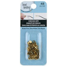 Bead Landing Crimp with Loop, Gold