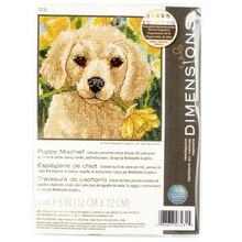 Dimensions Needlepoint Kit, Puppy Mischief