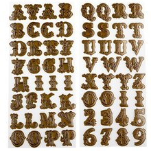 Recollections Embossed Alphabet Stickers
