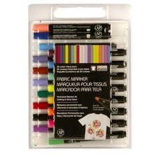 Marvy Uchida Bold Point Fabric Markers, Value Pack
