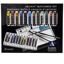 Grumbacher Academy Watercolor Artists' Sketchbox Set