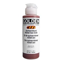 Golden Fluid Acrylics 4oz, Quinacridone/Nickel Azo Gold