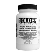 Golden Artist Colors Polymer Medium, Gloss 8 oz.