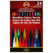 Progresso Woodless Color Pencils Set, 24 Count