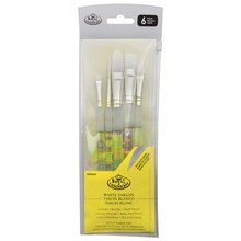 Soft-Grip White Taklon Brush Set