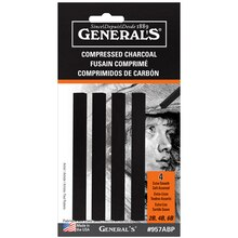 General's Compressed Charcoal Sticks