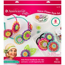 American Girl Crafts Fabric Flower Style Set