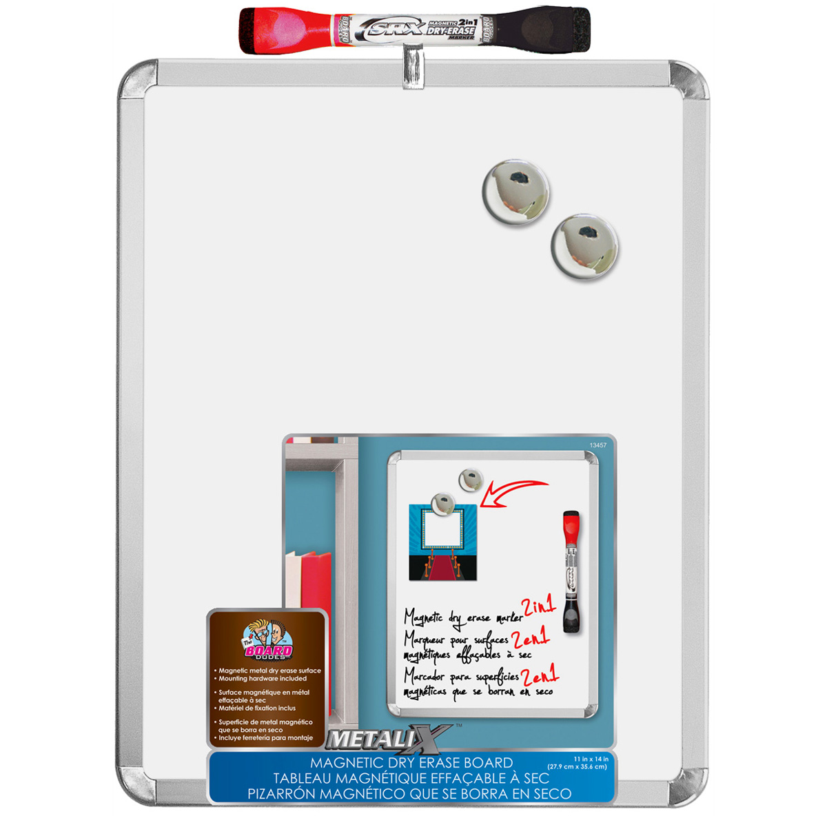 the board dudes metalix magnetic dry erase board