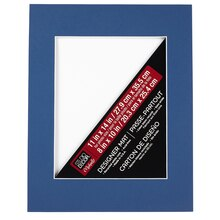 "Studio Décor Pre-cut Single Mat, 11"" x 14"" with 8"" x 10"" Opening, Blue"