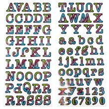 Recollections Alphabet Stickers Rainbow Patterned