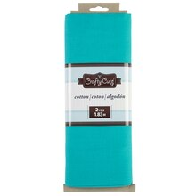 Crafty Cuts Cotton Fabric Mini Bolt, Turquoise