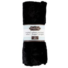 Crafty Cuts Crushed Velvet, Black