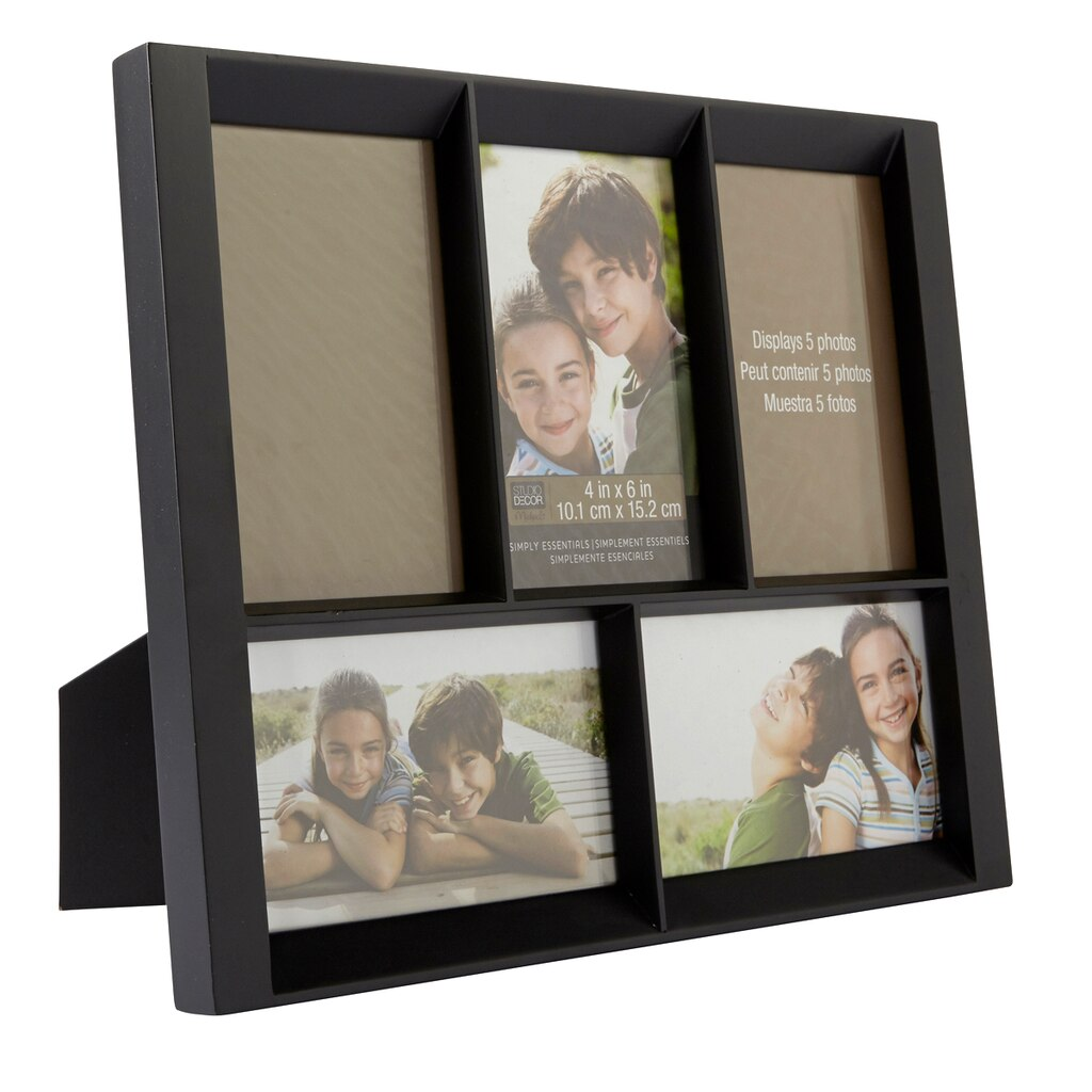 Black 5-Opening Collage Frame, 4\