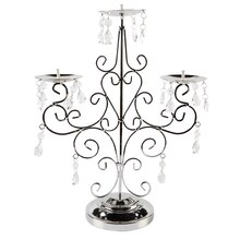 Ashland Jeweled Silver Candelabra