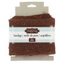 Crafty Cuts Burlap Trim, Brown