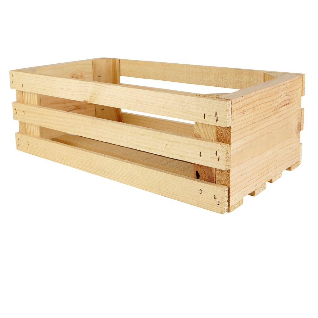 medium wood crate
