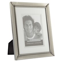 """Studio Décor Expressions Etched Pewter Frame With Double Mat, 5"""" x7"""""""